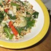Rosie's Bok Choy Salad Recipe - Crunchy bok choy is drizzled with sweetened soy vinaigrette and speckled with toasted almonds, sesame seeds and ramen noodles.