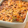 Impossibly Easy Breakfast Bake (Crowd Size) Recipe - Ringing the breakfast bell has never been easier! Enjoy all the traditional tastes of breakfast in one easy bake.