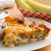 Impossibly Easy Cheeseburger Pie Recipe - Get all the great taste of a cheeseburger magically baked in a pie.