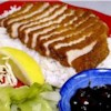 """Tonkatsu - Asian-Style Pork Chop Recipe - """"This is using Panko, which is Japanese bread crumbs (really light and airy, more so than crackers), and thinly sliced boneless pork chops."""""""