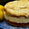 Italian Lemon Cream Cake Recipe and Video - Homemade Italian lemon cream cake filled with lemon cream and topped with vanilla crumbs is just like the one at a famous Italian restaurant chain.
