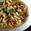 Beef Noodle Soup Recipe - Stew meat, mixed vegetables and egg noodles are combined in a beef broth base in this family-pleasing dish which can be completed in less than an hour.