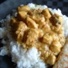 Spicy Indian Chicken Curry Yummy Recipe - This chicken curry recipe is totally diner style. The chicken thighs make it very soft and melt in your mouth! It's so easy to make too. Serve with rice, puri, naan or chappathi.