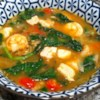 Mongo Guisado (Mung Bean Soup) Recipe - This bean soup uses mung beans simmered in chicken broth with prawns and diced pork.