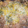 "Baked Spaghetti with Chicken Recipe - ""This is a wonderful chicken recipe that kids and adults love. To make ahead of time, leave off the cheese and refrigerate. Then bake for 20 minutes to heat, add the cheese and bake for 10 more minutes."""