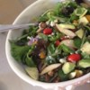 Harvest Salad Recipe and Video - This spinach salad is adorned with blue cheese, avocado, and cranberries, then drizzled with a raspberry walnut vinaigrette.