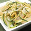 Japanese Zucchini and Onions Recipe - Zucchini and onions are stir fried with sesame seeds and teriyaki and soy sauces.