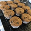 Low-Fat Blueberry Bran Muffins Recipe and Video - These muffins are just as delicious and moist as regular muffins!  They'll be gone before they have time to cool. Low-fat, healthy and yummy, imagine that.