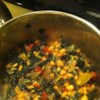 Bean and Kale Ragu Recipe - Simmer leafy green kale, canned tomatoes with chile peppers, onions, garlic, spices, and fresh herbs with plump, white canned cannellini beans to make this savory, Italian-inspired ragu or vegetable stew.