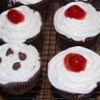 Self-Filled Cupcakes I Recipe - Chocolate cake mix and a mixture of cream cheese and chocolate chips deliver a new twist on plain chocolate cupcakes in this recipe!