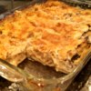 Aunty Pasto's Seafood Lasagna Recipe - This lasagna features a white sauce made with cream of mushroom soup, white wine, crab meat, and shrimp. A wonderful dish to serve guests either at a luncheon or for a dinner party.  I have served this dish to so many of my   friends, and they have all asked for the recipe.