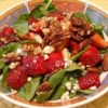 Strawberry Blue Cheese Salad Recipe - Fresh greens are tossed with strawberries, toasted pecans, and blue cheese. A lively dressing unites all the flavors into a springtime delight!