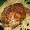 Honey Baked Chicken I Recipe - Seasoned chicken basks in a honey-egg glaze.