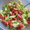 Summer Pepper Salad Recipe - This is a great salad for the summer heat. It is light and very quick to make. And even my kids like it. Serve with French bread for a great combination.