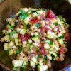 Mediterranean Zucchini and Chickpea Salad Recipe - This Mediterranean-inspired salad is loaded with chickpeas, oregano, Kalamata olives, tomatoes, feta, and much more for a filling and savory side dish.