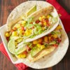 Fish Tacos from Reynolds Wrap(R) Recipe - Fish tacos have never been easier and clean up's a breeze when you cook tilapia fillets in a foil-lined pan.