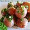 New Potatoes with Caper Sauce Recipe - Hot cooked new potatoes are gently tossed in a tangy, rich sauce of capers, parsley and grated Parmesan for a side dish that will steal the show.