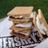 S'mores Recipe - Graham crackers with melted marshmallows and chocolate. Prepared over an open flame, this camping favorite is great for the holidays, too. Not recommended for the stove top.