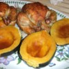 Orange Baked Acorn Squash Recipe - Baked acorn squash with a buttery orange flavor, accented with nutmeg. Kids love this!