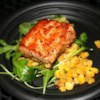 Salmon with Pecan Honey Glaze Recipe - Beautiful, crispy salmon fillets with a honey-pecan glaze that is easy and delicious!