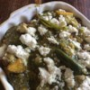 Potato and Bean Enchiladas Recipe - Vegetarian potato and pinto bean enchiladas smothered in tomatillo salsa and queso fresco. Make it as spicy as you like with the addition of jalapenos to either, or both, sauce and filling.