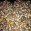 Slow Cooker Lentil Rice Soup Recipe - Dried lentils and uncooked brown rice are combined with vegetables, seasonings and broth in this easy and nutritious soup.  Chopped mushrooms are added in the last of the 8 hours of cooking time.