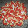 Candy Cane Cookies I Recipe - Make one complete cookie at a time.  If the dough of one color is shaped first, the little rolls become to dry to twist.