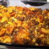 Christmas Breakfast Sausage Casserole Recipe and Video - Sausage, eggs, bread, and cheese snuggle down in a casserole, chill overnight, and bake in the morning. It's a hearty dish worth waking up for.