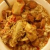 Ultimate Gulf Coast Gumbo Recipe - Gumbo filled with shrimp, crab, chicken, sausage, vegetables, and Cajun spices.  I've also included crab and/or scallops in this recipe.  Serve over rice, accompanied with garlic bread.  Also have salt, red pepper flakes, and additional file powder on the table.  Great with cold beer.