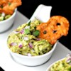 Avocado Chicken Salad Dip Recipe - Avocado chicken salad is packed with flavor and, as a dip, pairs well with crunchy Snack Factory(R) Pretzel Crisps(R). Using canned chicken makes it quick and easy.