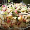 Apple and Zucchini Salad Recipe - Apples and zucchini are tossed in a basil vinaigrette for a quick and easy salad.