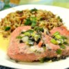 Pan-Poached Alaskan Salmon Piccata Recipe - This elegant dish of salmon filets poached in lemon juice and chicken bouillon, then topped with butter and capers, is a great way to impress your significant other. Serve over cooked fettuccine or on its own with steamed vegetables and rice.