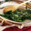 Quick and Easy Sauteed Spinach Recipe - Fresh spinach is cooked in olive oil with garlic salt and Parmesan cheese in this recipe.