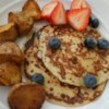 Cottage Cheese Pancakes Recipe - Tender pancakes made with cottage cheese and served with syrup.
