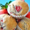 Florida Strawberry Muffins Recipe - These are moist and delicious despite the fact that there is no liquid other than the berry juice.