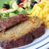 My Favorite Pork Turkey Meatloaf Recipe - This soft-textured meatloaf is speckled with vegetables. There's always enough for sandwiches the next day and crumbled into spaghetti sauce the day after that.