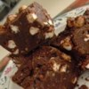 Nut Goody Bars Recipe - Very chocolaty, colorful, tasty, melt in your mouth (and in your hand) treat that anyone can make.  A glass pan is preferred so you can see the pretty colors.