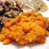 Sweet Potato Casserole VI Recipe - In this casserole, sweet potatoes are mashed with sugar, eggs, milk, butter and vanilla and baked with a crumble topping made with brown sugar and pecans.