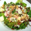 Fall Salad with Cranberry Vinaigrette Recipe - Salad greens, pears, walnuts and gorgonzola are tossed in a cranberry dressing in this beautiful seasonal salad.  Serve as the first course to a Thanksgiving meal.