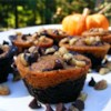 Pumpkin Brownies Recipe and Video - Chocolate and pumpkin-nut batters are swirled together to make a decorative, delicious marbled brownie.