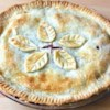 Cherry-Blueberry Pie Recipe - A fruity and fun surprise awaits you inside this double crusted cherry and blueberry pie.