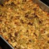 Cornbread Dressing I Recipe - Crumbled cornbread and sausage, plus biscuits and chopped hard-boiled eggs, make up this delicious dressing or stuffing. Makes enough to stuff a 10- to 15-pound turkey.