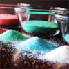 Colored Sugar Recipe - Make your own colored sugars and save yourself a lot of money over the holiday season. This recipe is easy and can be kept in the jars for months.