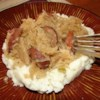 Slow Cooker Sauerkraut and Sausage Recipe - Here's an old recipe I have used for years. Sauerkraut and pork sausage cooked slowly in a slow cooker. Yummm!