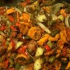 Vegetable Medley Recipe - A truly melodic medley of sweet and red potatoes, onion, bell pepper, carrots and garlic.