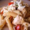 Greek Penne and Chicken Recipe and Video - This is one of my favorite 'stand by' recipes. I keep the ingredients on hand to make a quick, delicious, satisfying meal.