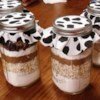 Cowboy Cookie Mix in a Jar Recipe - Cookie mix layered in a jar. They are great for gift-giving or bake sales.
