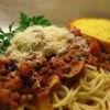 Spaghetti Sauce III Recipe - A simple tomato sauce with ground beef, onion, mushrooms, basil, oregano and garlic powder, simmers about an hour for a rich, blended taste.