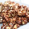 Chocolate Popcorn Recipe - Pop the popcorn, cover with chocolate glaze, then bake to make crisp chocolate coated popcorn!