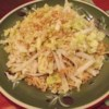 Napa Cabbage Salad Recipe and Video - This is a yummy, crunchy cabbage salad with toasted ramen noodles and almond slivers. The bowl is always licked clean at potlucks!